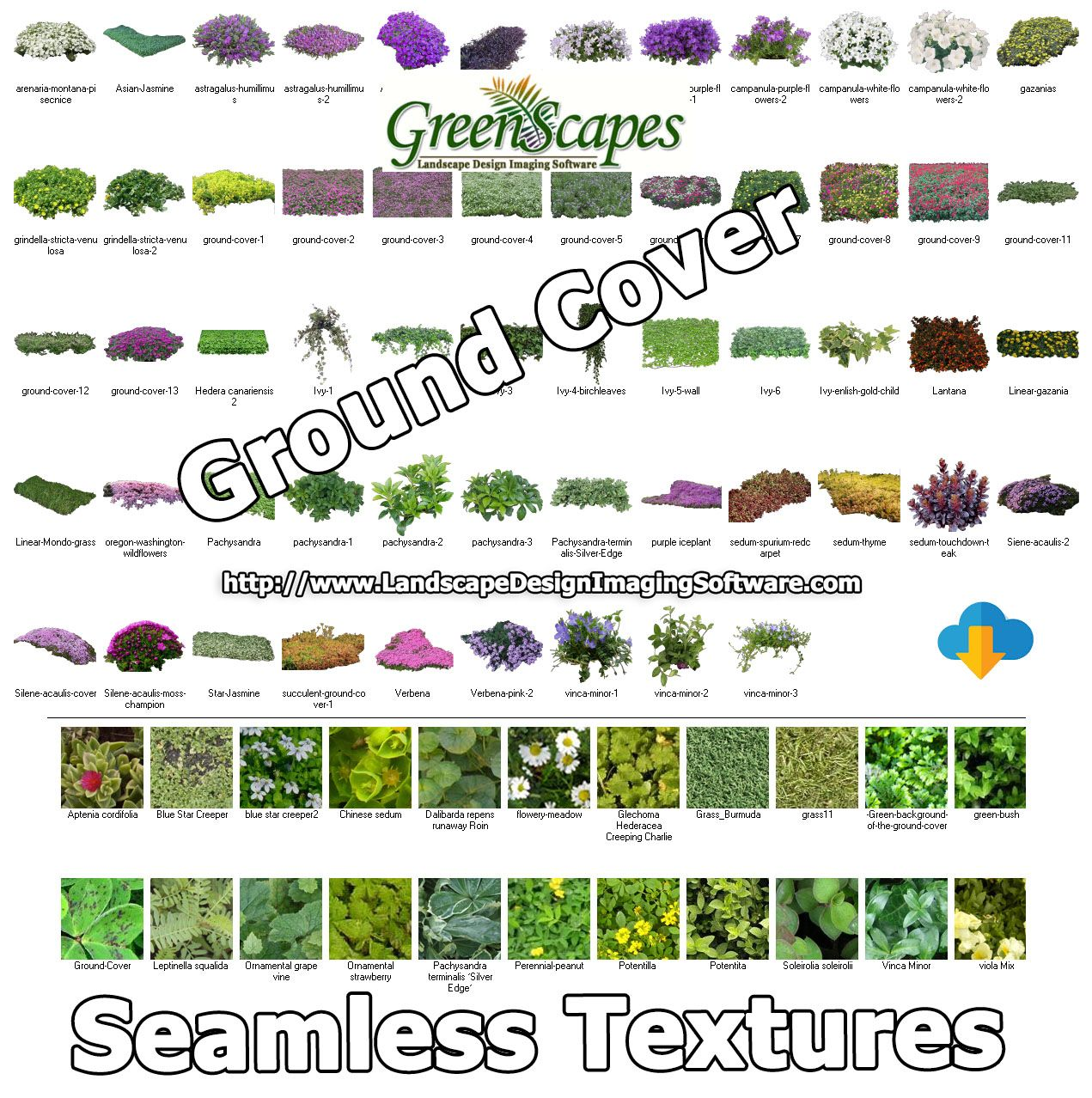 Greenscapes Clients Can Download For Free Additional Ground Cover Objects And Textures F Landscape Design Software Ground Cover Landscape Contractor