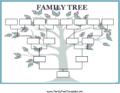 More Than  Family Tree Templates You Can Download And Print For