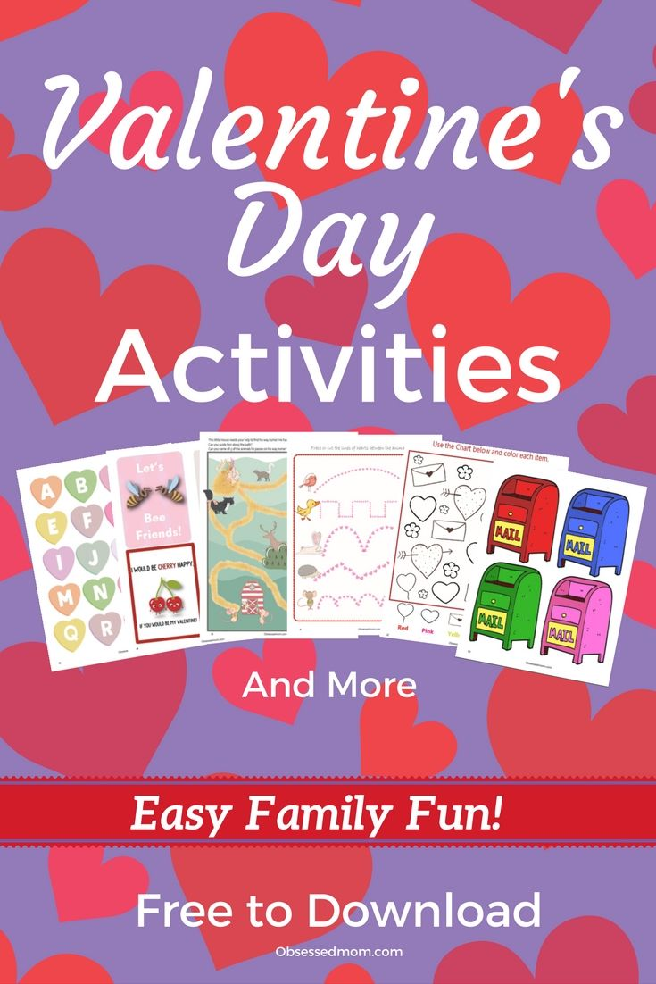 These Printable Valentine\'s Day Activities aren\'t only Free! They ...