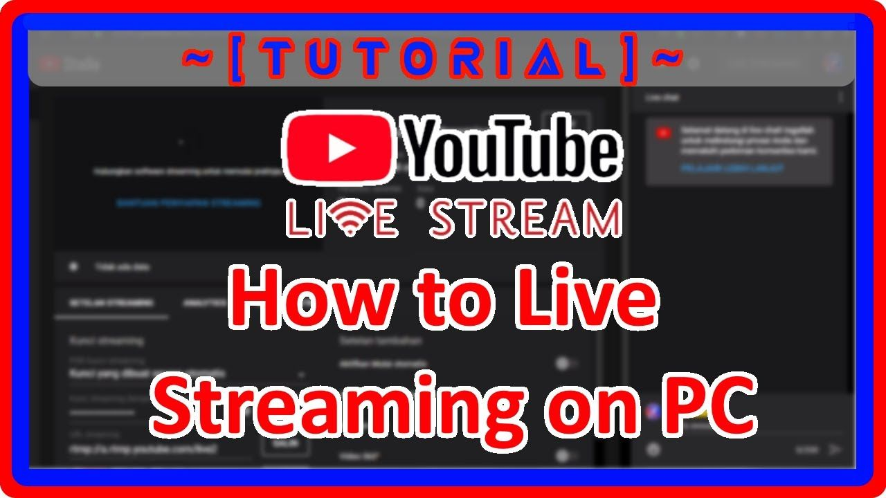 Tutor Lengkap Live Streaming Youtube Di Pc Laptop Obs Studio Youtube Video Studio