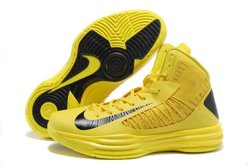 Sale Discount Nike Lunar Hyperdunk 2013 Basketball Shoes Yellow Black for  Men Basketball Shoes Shop
