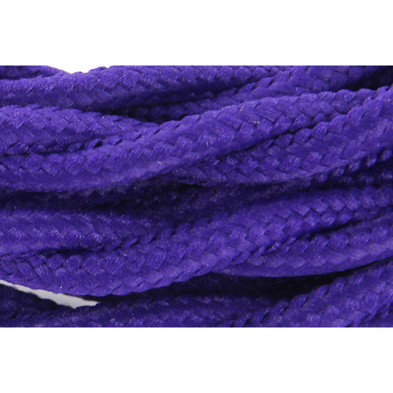 Cable Textile Soie Torsade Violet Ho3vv F 2x0 75mm2 3m Chacon Textiles Et Torsade