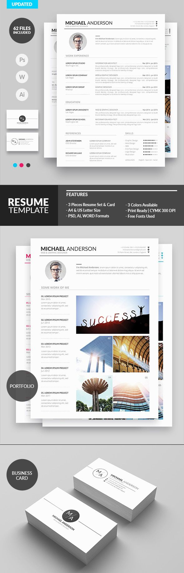 Minimal Resume Design for Creatives | cv | Pinterest | Diseño y ...
