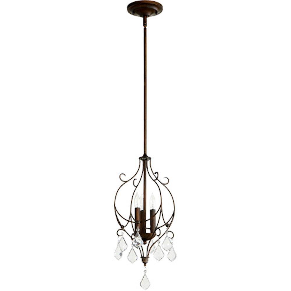 Quorum 3205 39 3 Light Ariel Vintage Copper Mini Pendant Led Shop Lights Vintage Copper Led Recessed Lighting