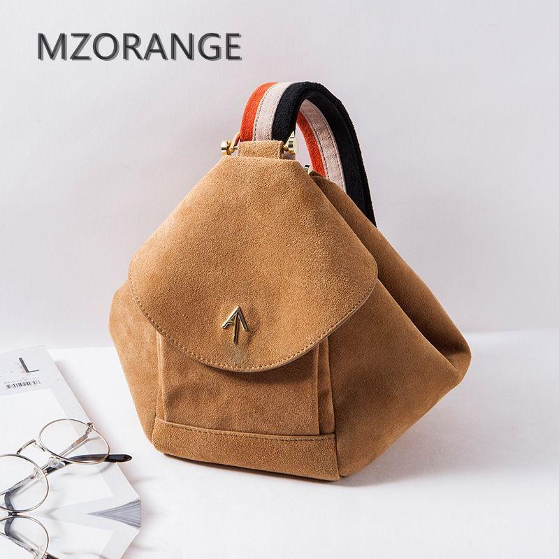 9526da4ee6e8 Mzorangeo 2018 Винтаж замши дизайн натуральная кожа Для женщин способа сумки  небольшой бренд стрелка сумка женская
