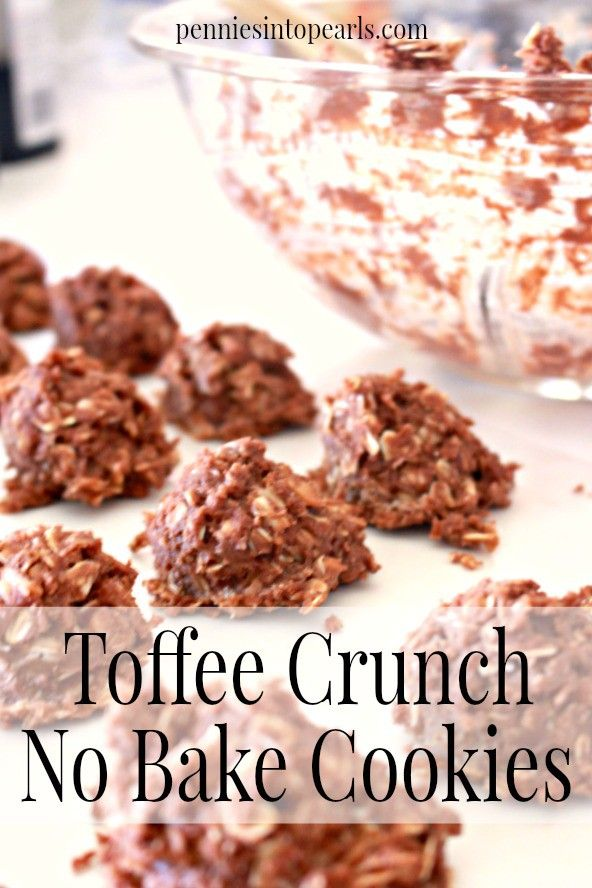 Photo of Toffee Crunch No Bake Cookie Recipe