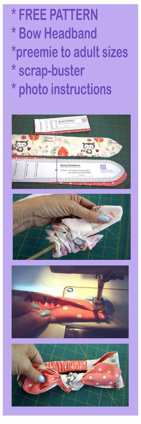 BowHeadbandPattern copy | DIY HEADBANDS | Pinterest | Schnittmuster ...