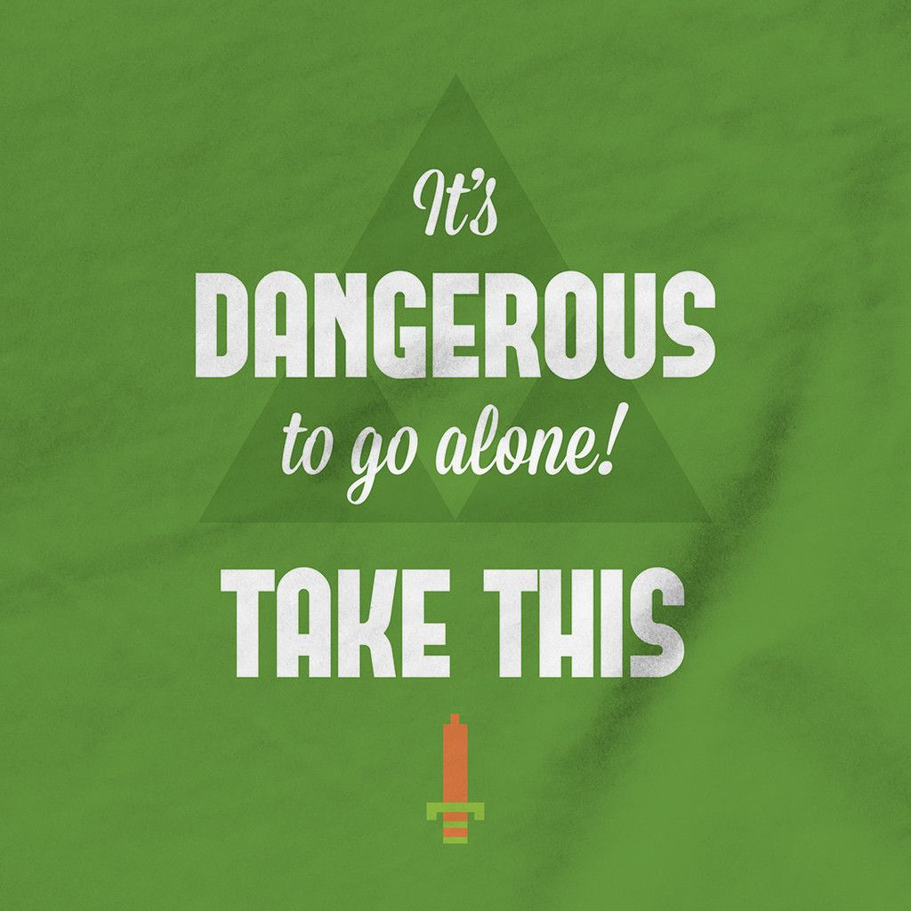 Zelda Quotes It's Dangerous To Go Alone Take This  Tshirt  Video Game
