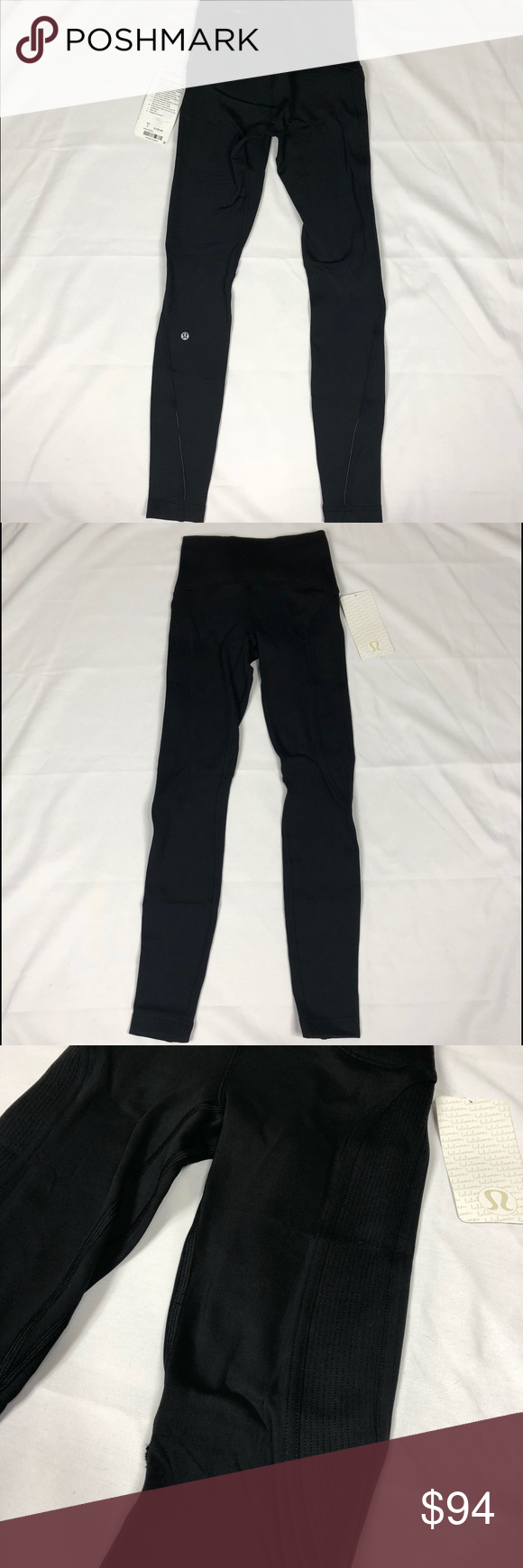 Lululemon fast as fleece tightsz linedblack nwt lululemon