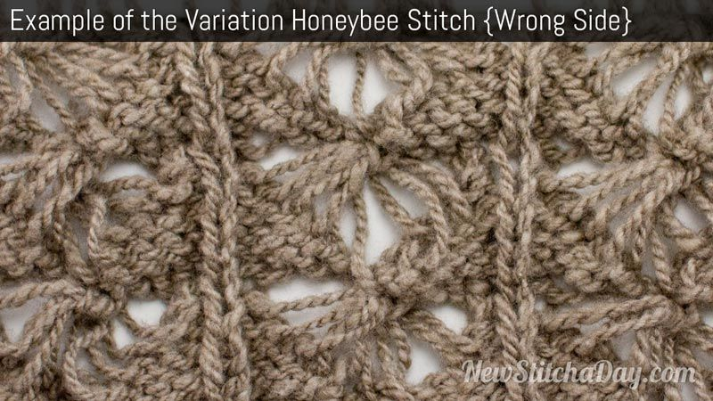Example Of The Variation Honey Bee Stitch Wrong Side Knitting