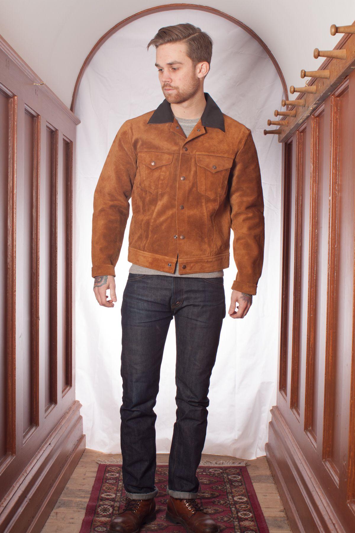Levi's Vintage Clothing Suede Trucker Jacket Rubber