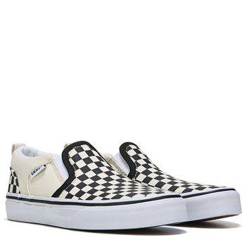 b6397151e2bf  35 Vans Kids  Asher Checkers Slip On Sneaker Pre Grade School Shoe ...