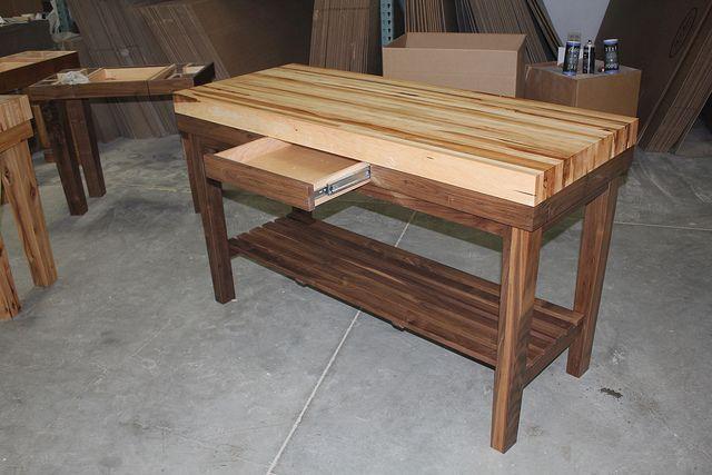 Walnut Island Butcher Block Table by ShuffleboardTables, via Flickr
