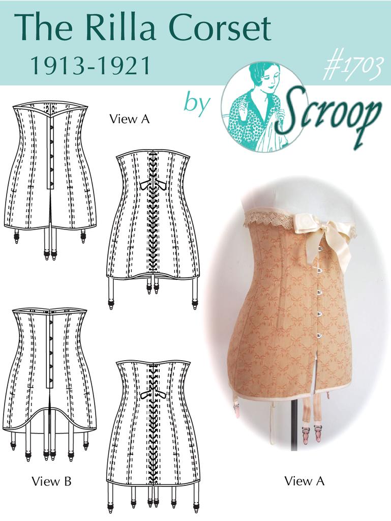 Rilla Corset 1913-1921 | Patrones | Costura, Lenceria y Vestidos