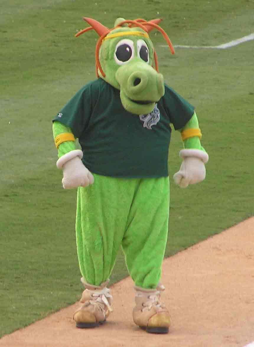 Homer the dragon charlotte knights mascot aaa