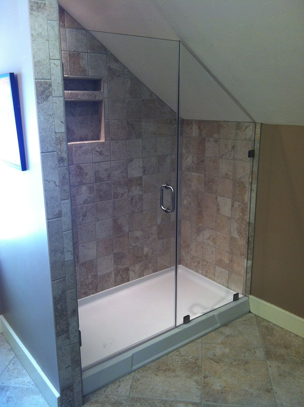Slanted Glass Shower Door Google Search With Images Attic