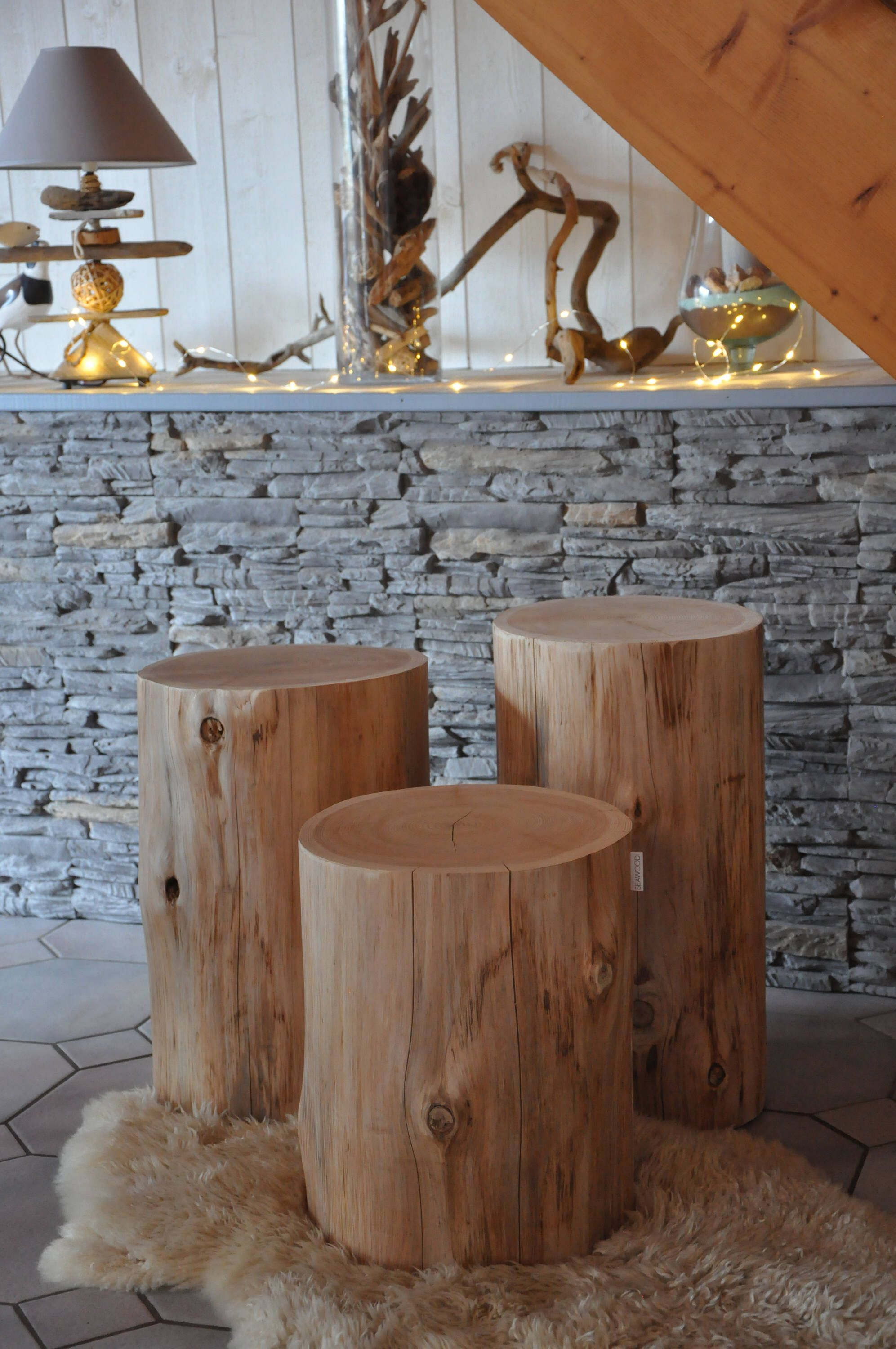 Set Of 3 Tables Tree Trunk Wood Side Table Stool Log End Table Tree Stump Table Bedside Table Coffee Ta Tree Trunk Table Side Table Wood Tree Stump Table [ 3000 x 1993 Pixel ]
