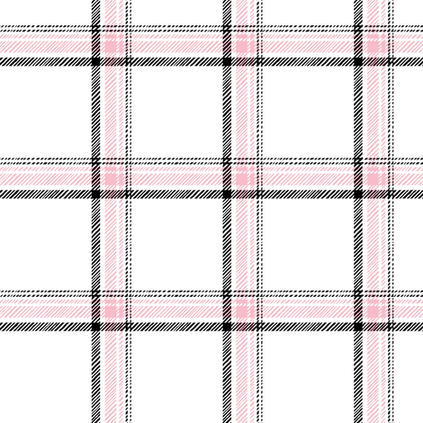 pink plaid fabric by leanne