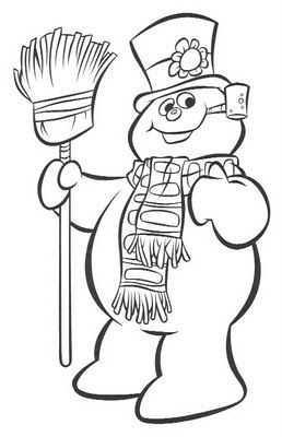 review - Frosty Snowman Coloring Pages