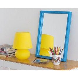 O Espelho Collino 52x40 Turquesa foi desenvolvido para ser um item decorativo de destaque.
