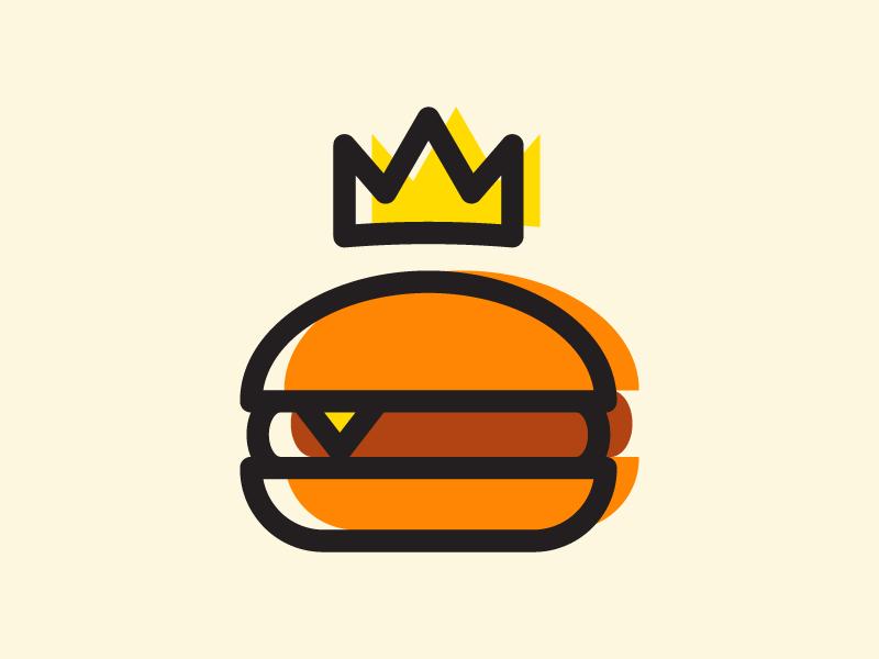 Burger Food Logo Design Fast Food Logos Burger Icon