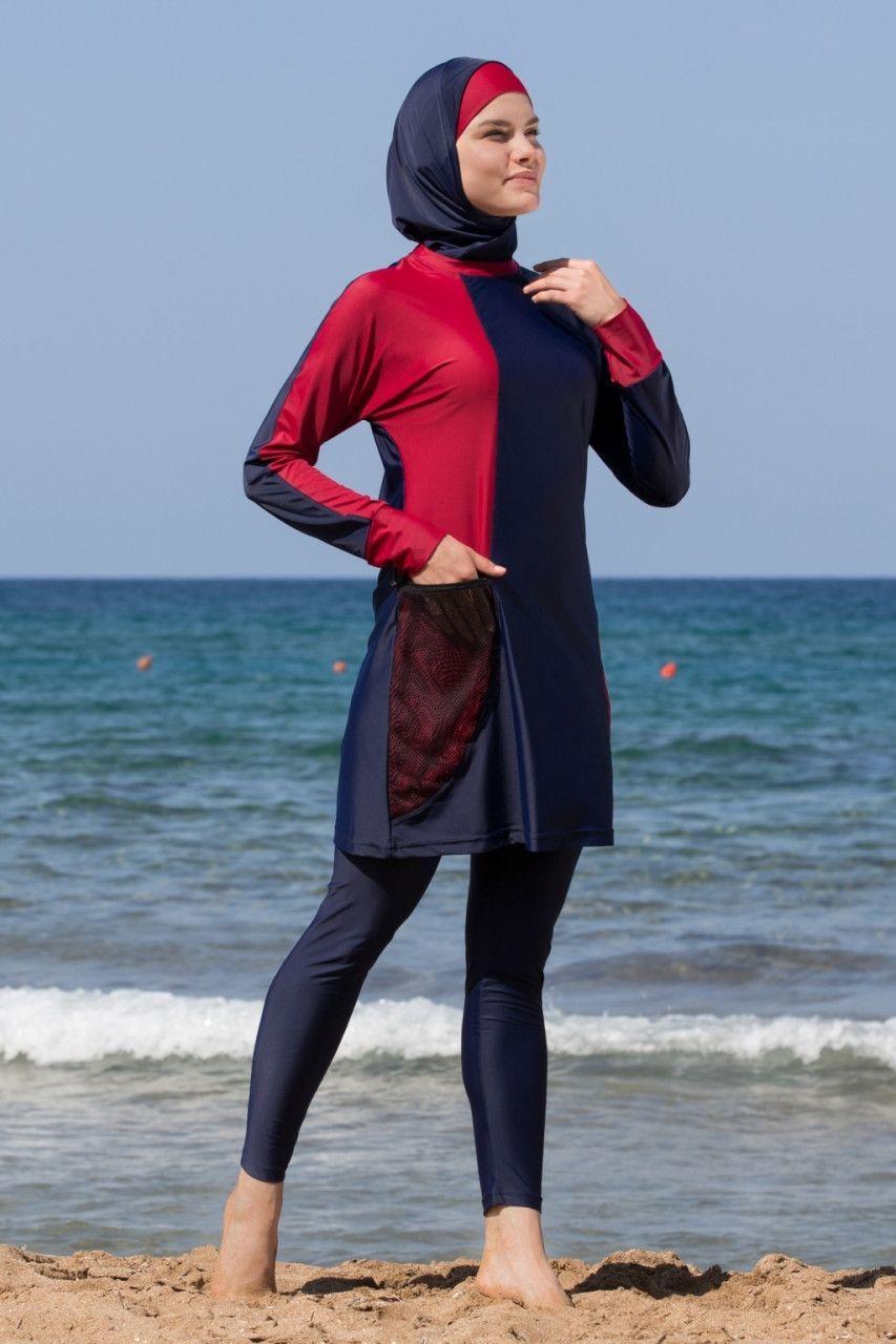 b06224a7872cf Adabkini DURU Women's Swimsuit Full Cover Hijab Burkini Islamic, Hindu,  Arab, Jewish Swimwear