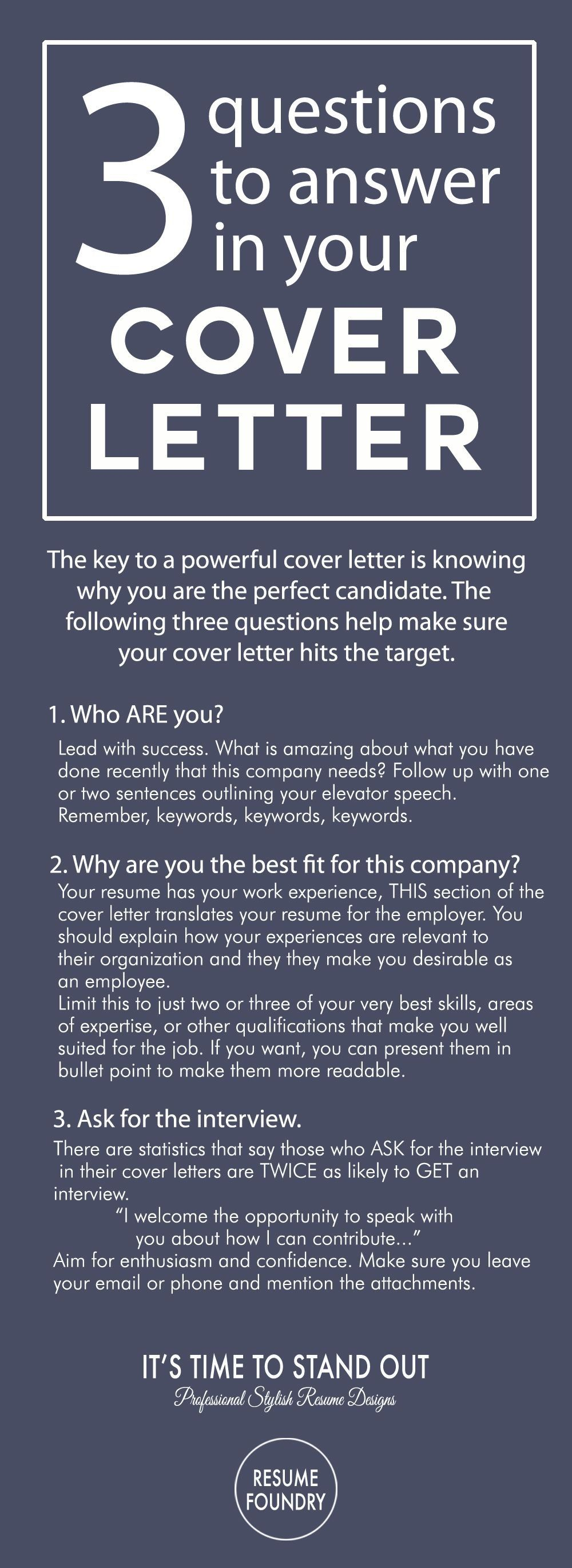 3 Questions To Answer In Your Cover Letter Resume Cover Letter