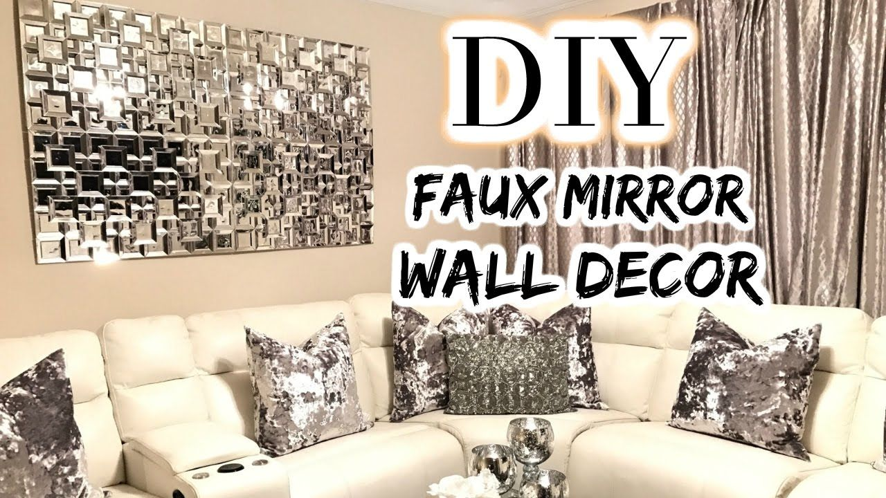 Dollar Tree Diy Faux Mirror Home Decor Diy 2017 Glam Wall Decor Diy Mirror Wall Decor Dollar Tree Diy
