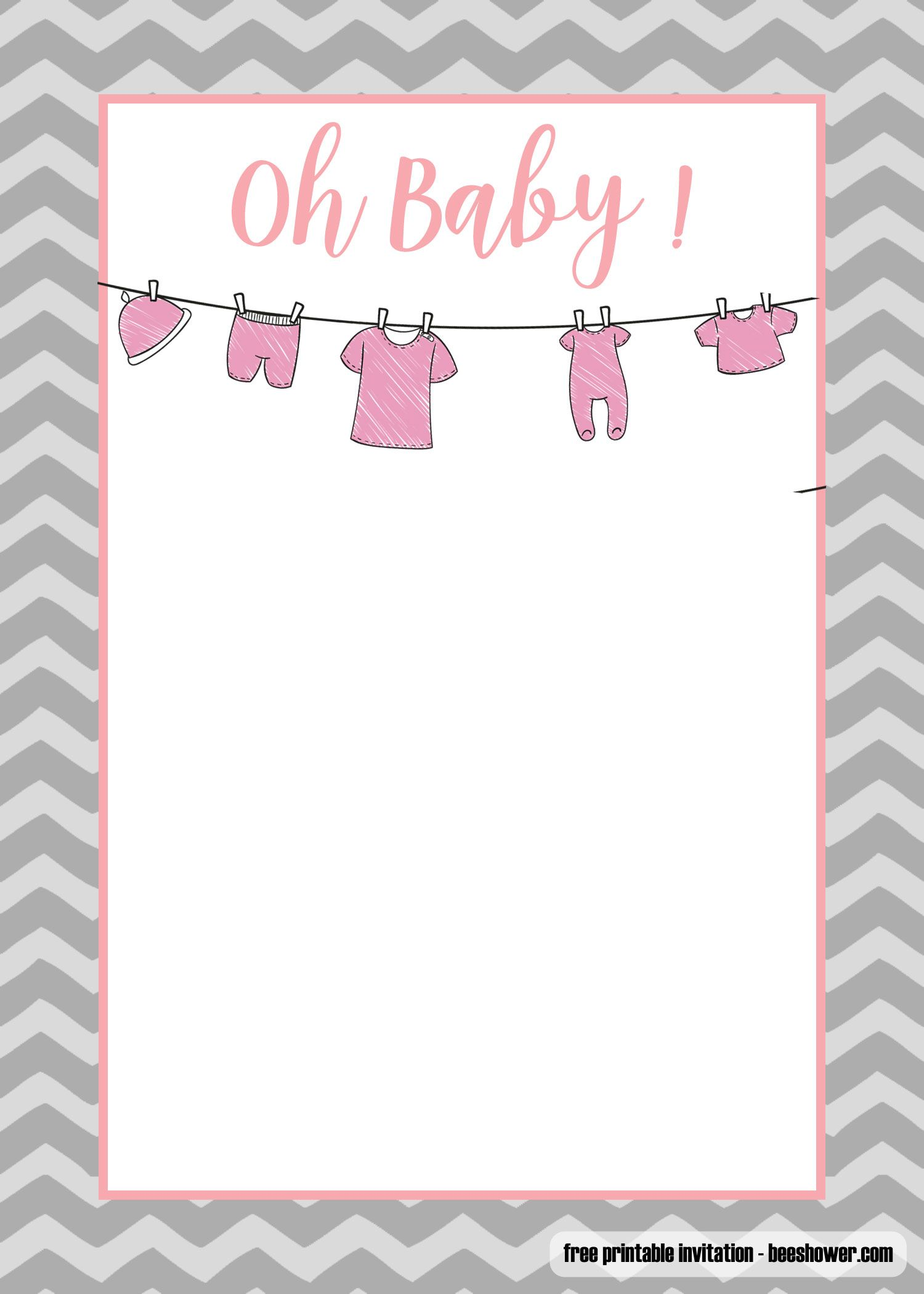 Free Printable Onesie Baby Shower