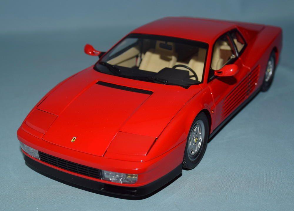 Kyosho 1 18 Scale Original Die Cast Model Ferrari Testarossa Red 08422r Ferrari Testarossa Diecast Sports Car