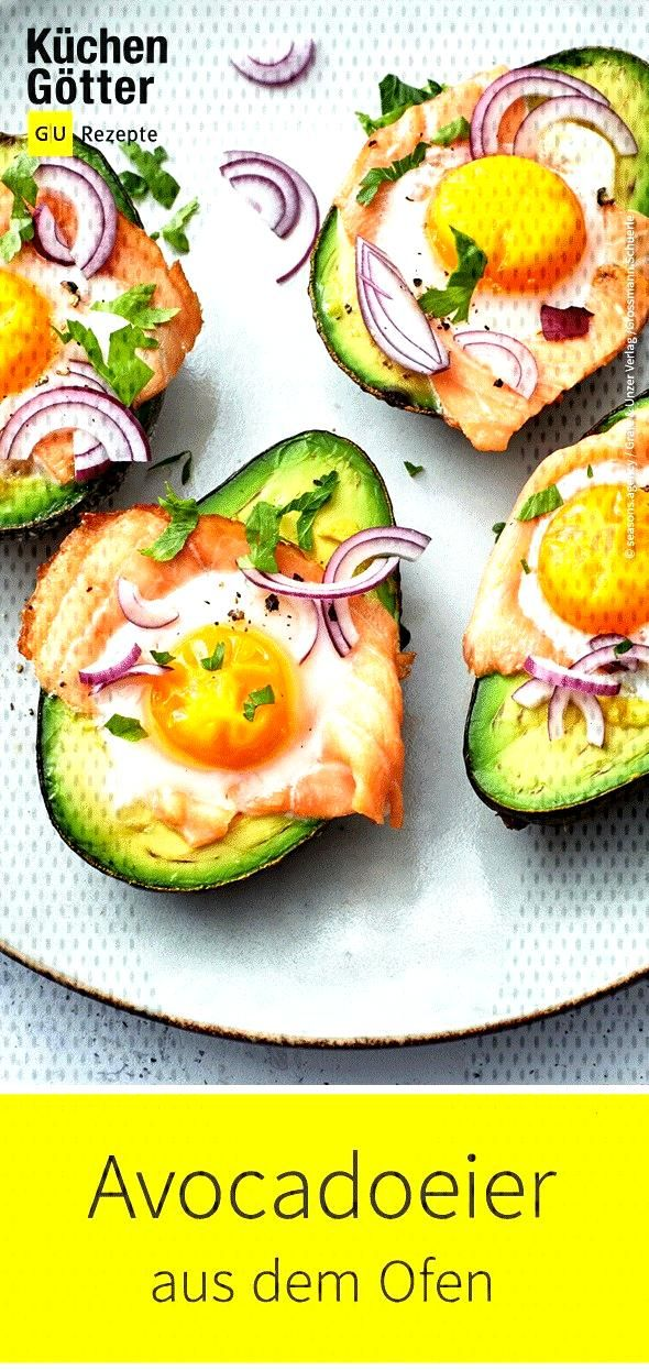 Avocado eggs from the oven -  The slightly different version of the breakfast egg – of course, al
