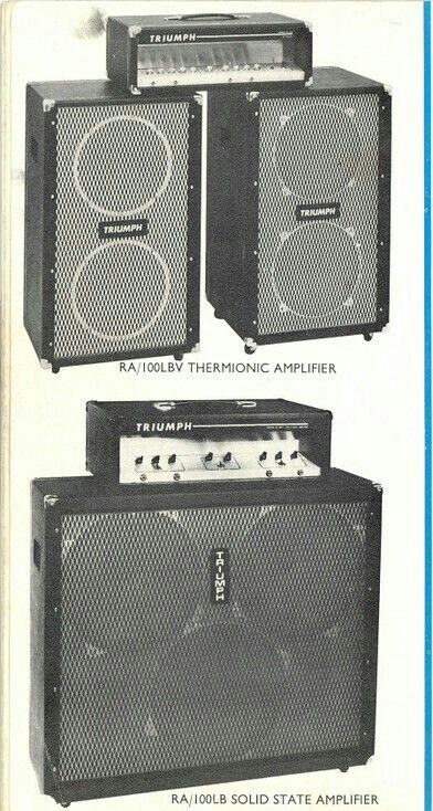 1967 Triumph Rosetti Silicon 100 Keith Richards Amp On Let It