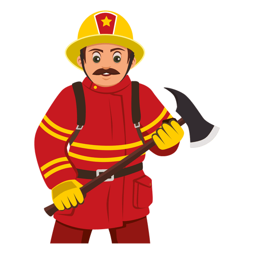 Firefighter Carrying Axe Ad Ad Aff Axe Carrying Firefighter Firefighter Fireman Art Engineer Cartoon