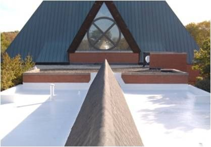 Church Roof After Energy Saving Cool Roofing System Is Applied Roofing Roofing Systems Outdoor Decor