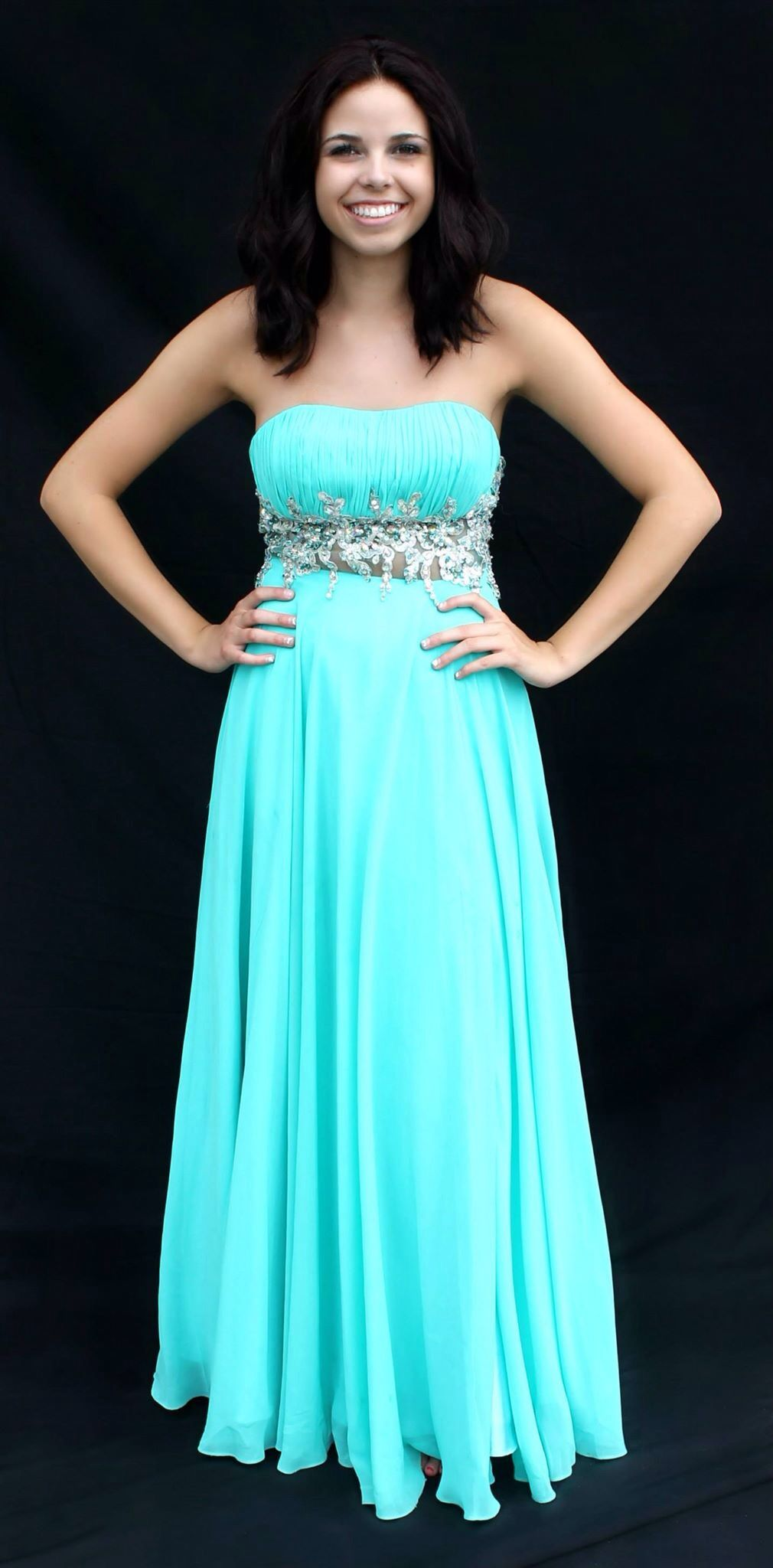 new turquoise blue prom or homecoming dress! Available for rent at ...