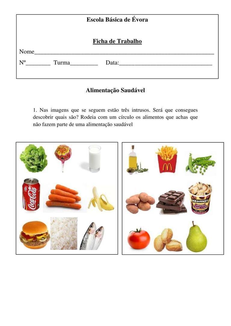 Fichas De Trabalho Sobre O Dia Da Alimentacao Pesquisa Google