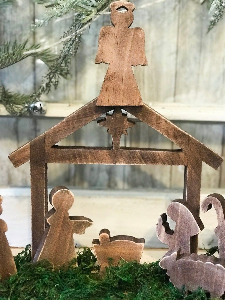 diy wooden nativity scene makeover ReFabbed Wooden