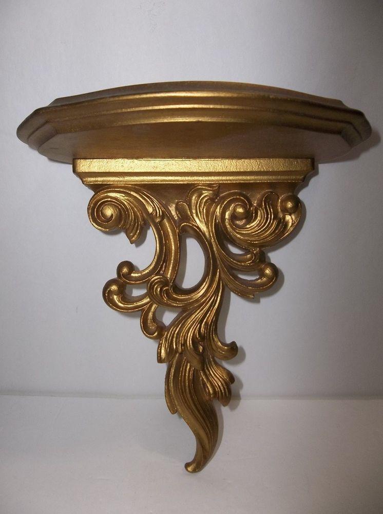 Pleasant Details About Vintage Florentine Italy Toleware Gold Carved Download Free Architecture Designs Lectubocepmadebymaigaardcom