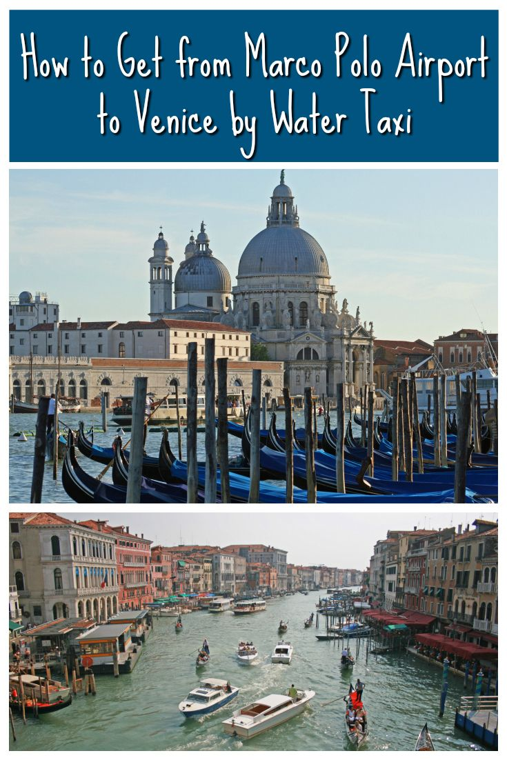 Venice Water Taxi From Marco Polo Airport To And