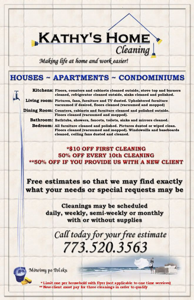 KathyS Home Cleaning Flyer  Flyer Template Free