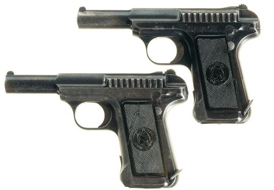 French contract Savage M1907 pistols Manufactured by Savage Arms in