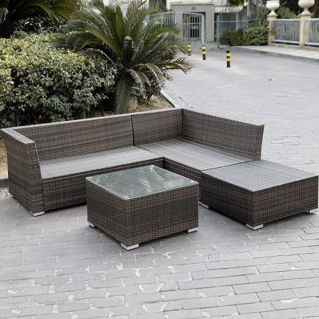 Giantex 6pc Patio Sectional Furniture Set Deck Couch Outdoor