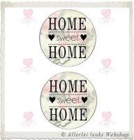 Knipvel 214 grote cirkels tekst home sweet home A4