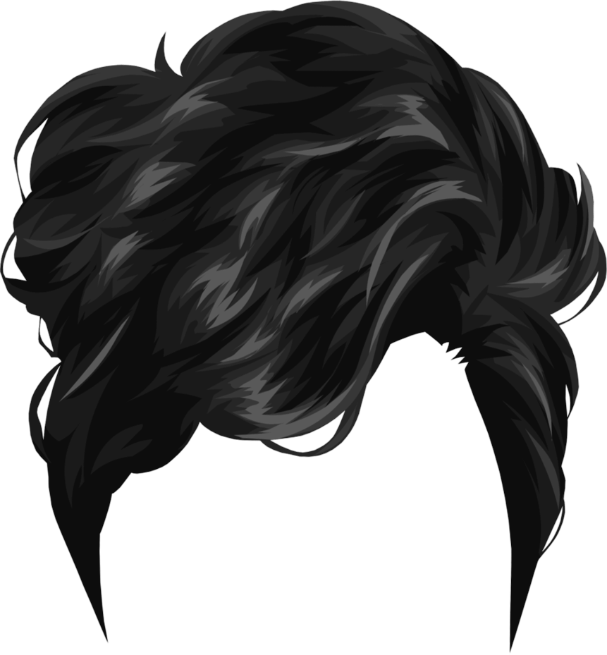 Short Black Drawing Hair Photoshop Hair Hair Clipart Hair Png