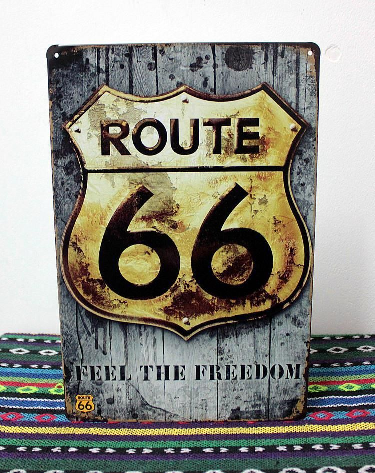 New 2015 Route 66 Metal Tin Signs Vintage Tin Wall Art Craft Metal Painting Home  Decor