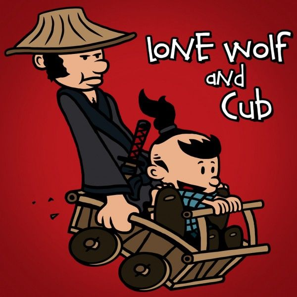 Lone Wolf and Cub x Calvin and Hobbes Mashup Art by JBaz