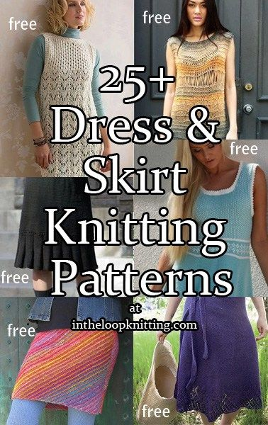 Knitting patterns for Dresses and Skirts. Most patterns are