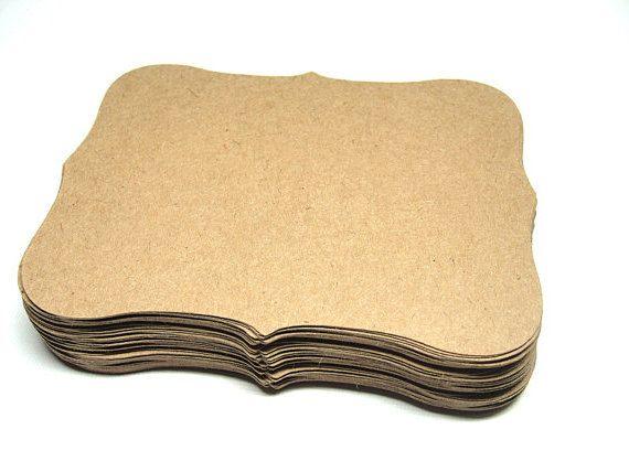 Kraft Brown Flat Bracket Paper Cardstock Cards 3 X 2 5 Top Notes