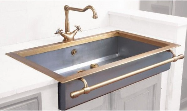 I Love This Sink The Deep Color And The Brass Trimming The Only