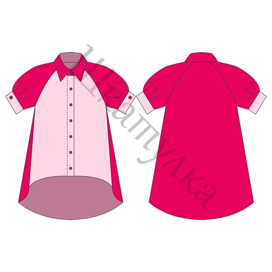 Выкройка блузки с рукавом реглан | шьем | Pinterest | Blusen ...